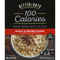 Better Oats Oatmeal, Instant, Maple & Brown Sugar, 10 Each