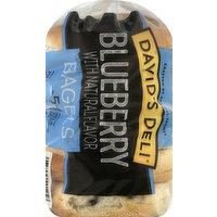 Davids Deli Bagels, Blueberry, Presliced, 5 Each