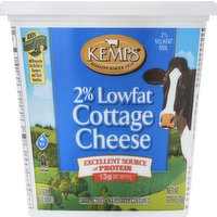Kemps Cottage Cheese, Large Curd, 2% Milkfat Min, Lowfat, 22 Ounce