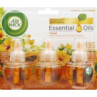 Air Wick Essential Oils, Hawaii Exotic Papaya & Hibiscus Flower Fragrances, 3 Each