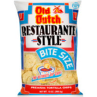Old Dutch Restaurante Style Bite Size Premium Tortilla Chips, 13 Ounce
