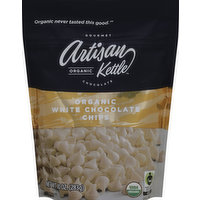 Artisan Kettle Chocolate Chips, White, Organic, 10 Ounce