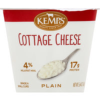 Kemps Cottage Cheese, Small Curd, 4% Milk Fat, 17 g Protein, Plain, 5.64 Ounce