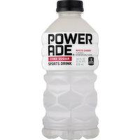 Powerade Sports Drink, Zero Sugar, White Cherry, 28 Ounce
