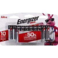 Energizer Alkaline Batteries, AA, 1.5V, 16 Each