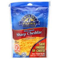 Crystal Farms Cheese, Wisconsin Sharp Cheddar, 8 Ounce