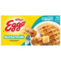 Eggo Waffles, Buttermilk, 10 Each