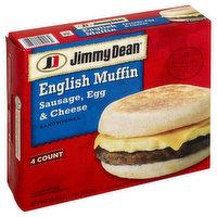 Jimmy Dean Sandwiches, English Muffin, Sausage, Egg & Cheese, 4 Each
