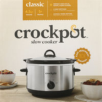 Crockpot Slow Cooker, Classic, Round, 4.5 Quart, 1 Each