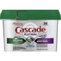 Cascade Dishwasher Detergent, Fresh Scent, ActionPacs, 36 Each
