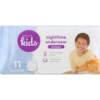 Basics For Kids Nighttime Underwear, L/XL (60-125 lb), Unisex, 11 Each