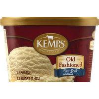 Kemps Ice Cream, New York Vanilla Flavored, 1.5 Quart