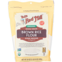 Bob's Red Mill Brown Rice Flour, Organic, Whole Grain, Stone Ground, 24 Ounce