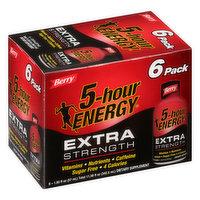 5-Hour Energy Energy Shot, Berry, Extra Strength, 6 Pack, 6 Each
