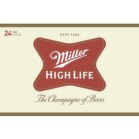Miller Beer, High Life, 24 Each