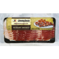 Jimmy Dean Bacon, Premium, Hickory Smoked, 12 Ounce