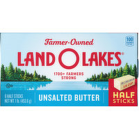 Land O Lakes Butter, Unsalted, Half Sticks, 8 Each