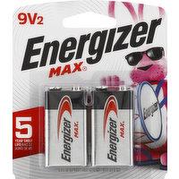 Energizer Batteries, Alkaline, 9V, 2 Pack, 2 Each