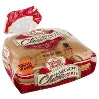 Village Hearth Classic White Hamburger Bun, 15 Ounce