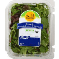 Wild Harvest Mixed Greens & Spinach, Organic, 5 Ounce