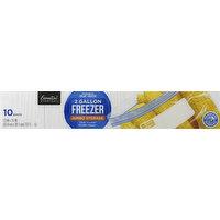 Essential Everyday Freezer Bags, Double Zipper, Jumbo, 2 Gallon, 10 Each