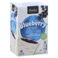 Essential Everyday Toaster Pastries, Blueberry, Frosted, 6 Each