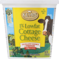 Kemps Cottage Cheese, Small Curd, 1% Milkfat Min, Lowfat, 22 Ounce
