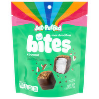 Jet-Puffed Marshmallows Bites, Coconut, Coated, 4 Ounce
