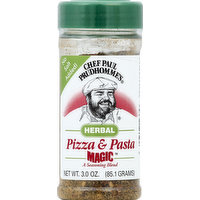 Chef Paul Prudhomme's Seasoning Blend, Pizza & Pasta, Herbal, 3 Ounce