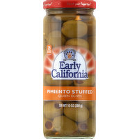Early California Olives, Queen, Pimiento Stuffed, 10 Ounce