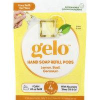 Gelo Hand Soap Refill Pods, Foaming, Lemon, Basil, Geranium, 8 Each