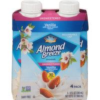 Almond Breeze Almondmilk, Vanilla, Unsweetened, 4 Pack, 4 Each