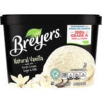 Breyers Ice Cream, Natural Vanilla, 1.5 Quart