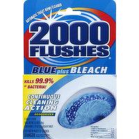 2000 Flushes Toilet Bowl Cleaner, Automatic, Blue Plus Bleach, 2 Each