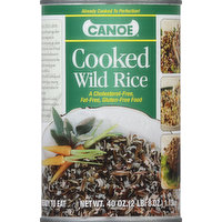 Canoe Wild Rice, Cooked, 40 Ounce