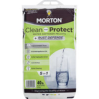 Morton Water Softening Pellets, +Rust Defense, 40 Pound