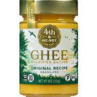 4th & Heart Ghee, Clarified Butter, Original Recipe, 9 Ounce