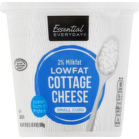 Essential Everyday Cottage Cheese, Small Curd, 2% Milkfat Low Fat, 24 Ounce