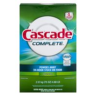 Cascade Complete Powder Dishwasher Detergent, 75 Ounce