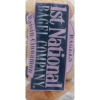 1st National Bagel Bagels, Presliced, Raisin-Cinnamon, 5 Each