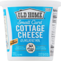 Old Home Cottage Cheese, Small Curd, 4% Milkfat Minimum, 22 Ounce