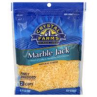 Crystal Farms Cheese, Marble Jack, Finely Shredded, 8 Ounce