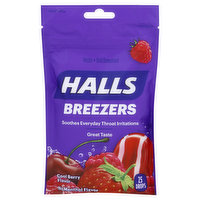 Halls Throat Drops, Cool Berry Flavor, 25 Each