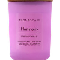 Aromascape Candle, Lavender Vanilla, Harmony, 1 Each
