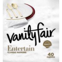 Vanity Fair Classic Napkins, Entertain, 3-Ply, 40 Each