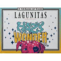 Lagunitas Beer, IPA, Hazy Wonder, 12 Each