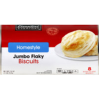 Essential Everyday Biscuits, Jumbo Flaky, Homestyle, Ready-to-Bake, 8 Each