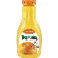 Tropicana 100% Juice, Original, Orange, No Pulp, 52 Ounce