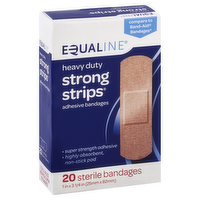 Equaline Bandages, Adhesive, Strong Strips, Heavy Duty, 20 Each