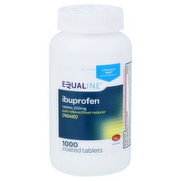 Equaline Ibuprofen, 200 mg, Coated Tablets, 1000 Each